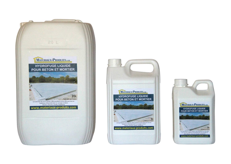 Hydrofuge liquide pour b ton et mortier for Consommation chlore liquide piscine
