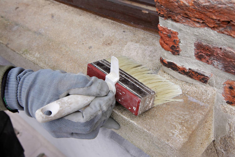 Imperm abilisant cologique mat riaux poreux sols murs - Peinture effet brique ...