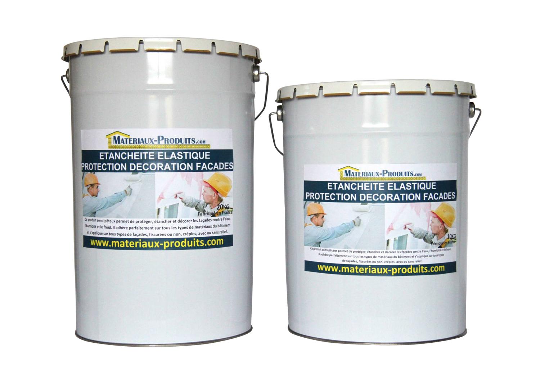 Peinture etanche elastique pour protection facade 18 couleurs - Produit nettoyage facade maison ...
